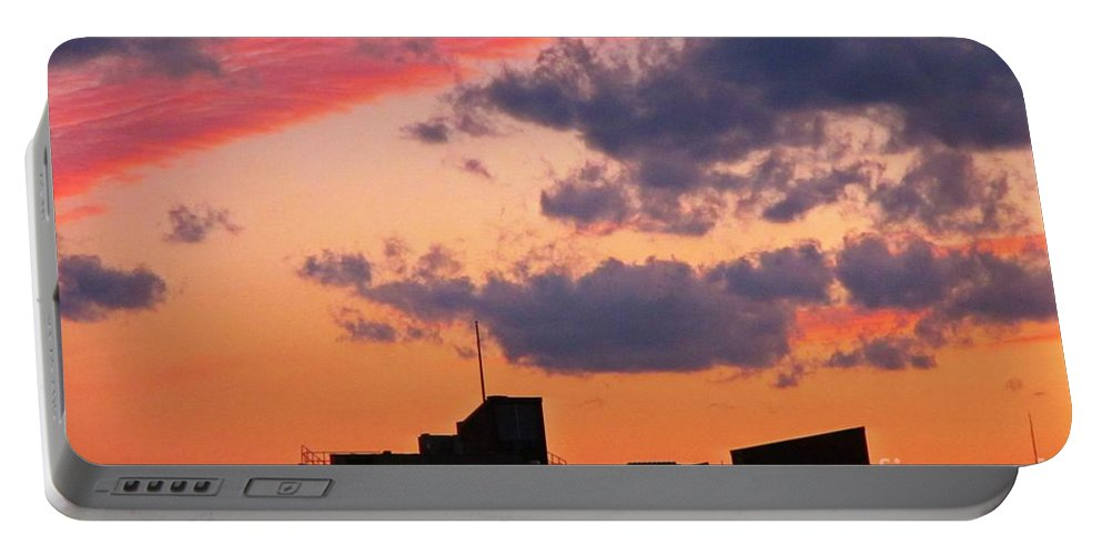 Sky Prints Portable Battery Charger featuring the photograph Dramatic Sky Dwarfs Halifax Skyline by John Malone