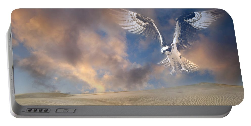 Hawk Portable Battery Charger featuring the photograph Dream Hawk by Georgiana Romanovna