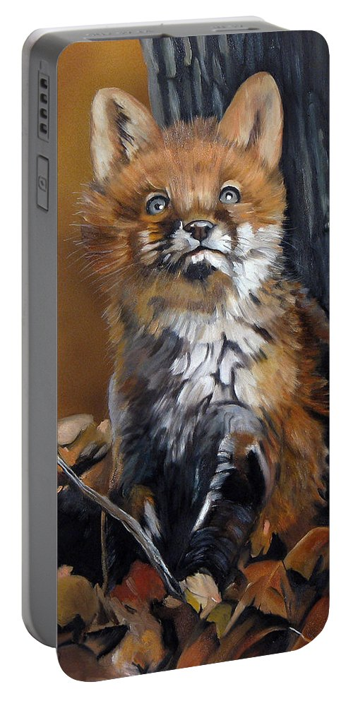 Southwest Art Portable Battery Charger featuring the painting Dreamer by J W Baker