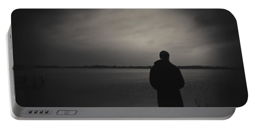 Boy Portable Battery Charger featuring the photograph Dreams by Scott Wood