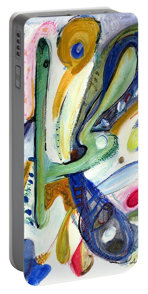 Abstract Art Portable Battery Charger featuring the painting Dreams by Stephen Lucas