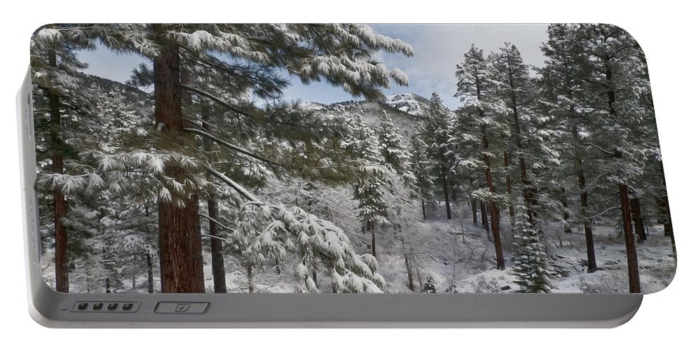 Landscape Portable Battery Charger featuring the photograph Distant Peak by Maria Coulson