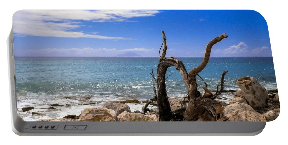 Driftwood Portable Battery Charger featuring the photograph Driftwood Island by Karen Wiles