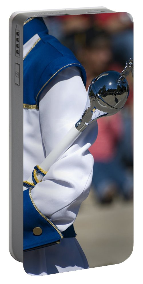 Drum Major Portable Battery Charger featuring the photograph Drum Major Baton by Thomas Woolworth