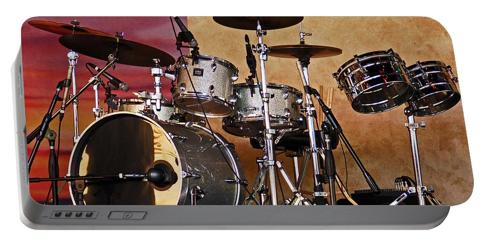 Drum Portable Battery Charger featuring the photograph Drum Set by Aimee L Maher ALM GALLERY