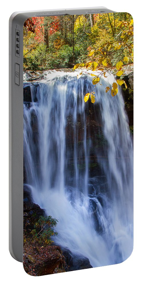 Dry Falls Portable Battery Charger featuring the photograph Dry Falls North Carolina by John Haldane