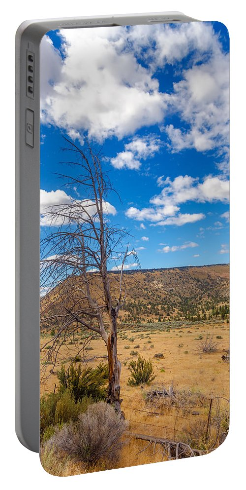 Desert Portable Battery Charger featuring the photograph Dry Landscape by Jess Kraft