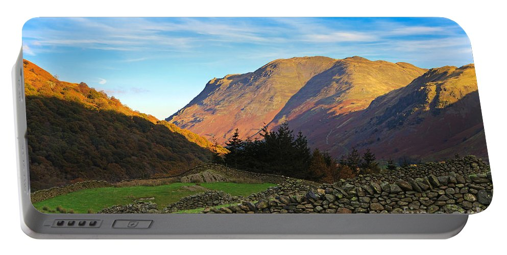 Dry Portable Battery Charger featuring the photograph Dry Stone Walls In Patterdale In The Lake District by Louise Heusinkveld