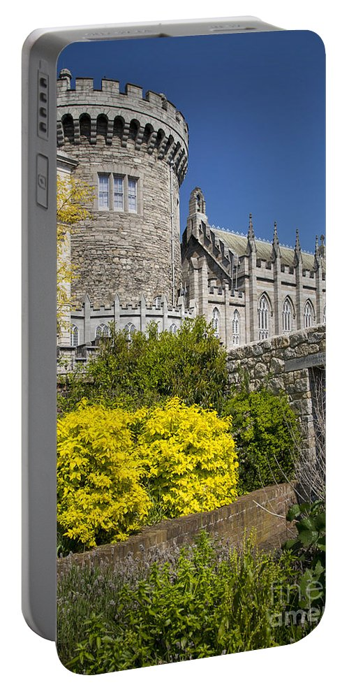Architectural Portable Battery Charger featuring the photograph Dublin Castle by Brian Jannsen