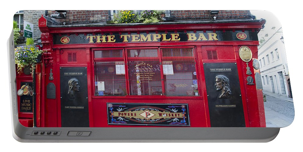 Dublin Portable Battery Charger featuring the photograph Dublin Ireland - The Temple Bar by Bill Cannon