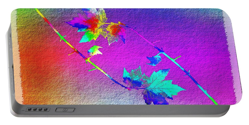 Tree Portable Battery Charger featuring the digital art Duet In The Treetops by Tim Allen