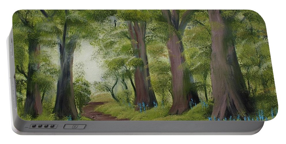 Painting Portable Battery Charger featuring the painting Duff House Walk by Charles and Melisa Morrison