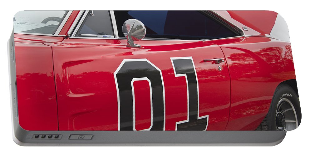 General Portable Battery Charger featuring the photograph Dukes Of Hazard General Lee by Glenn Gordon