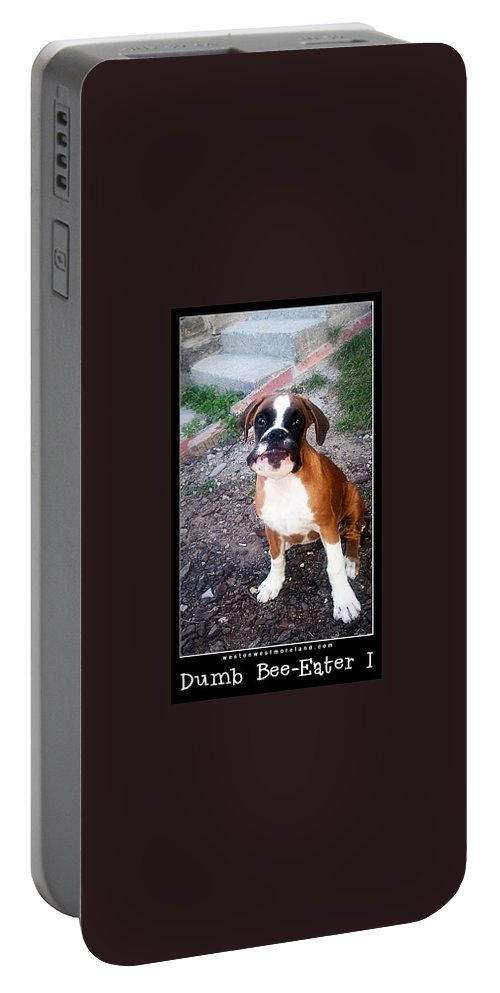 Boxer Puppy Portable Battery Charger featuring the photograph Dumb Bee Eater Boxer I by Weston Westmoreland