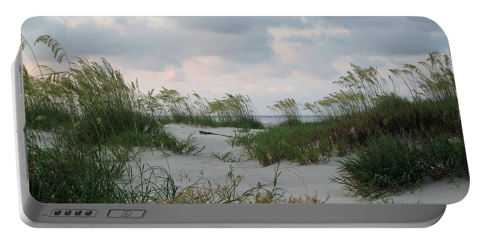 Sea Oats Portable Battery Charger featuring the photograph Dune Sea Oats by Carol Luzzi