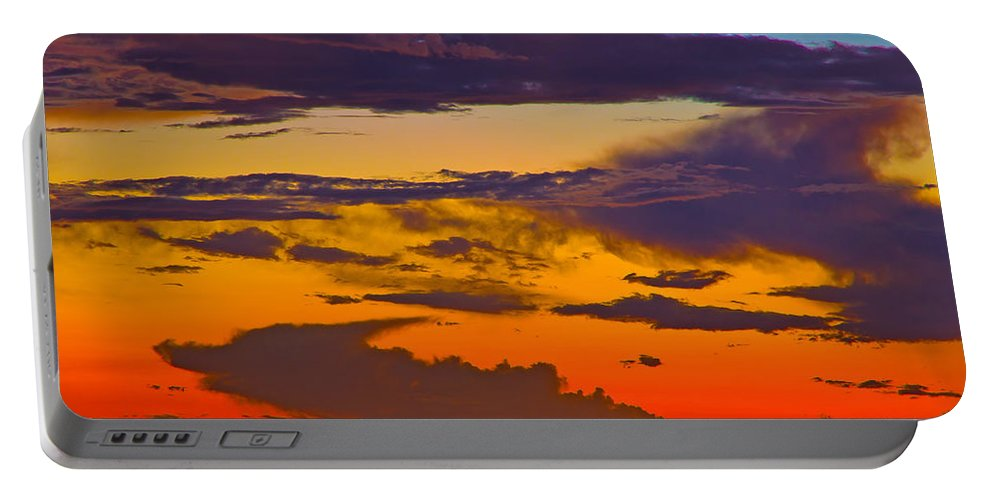 Florida Portable Battery Charger featuring the photograph Dunedin Causeway Sunset by Stephen Whalen