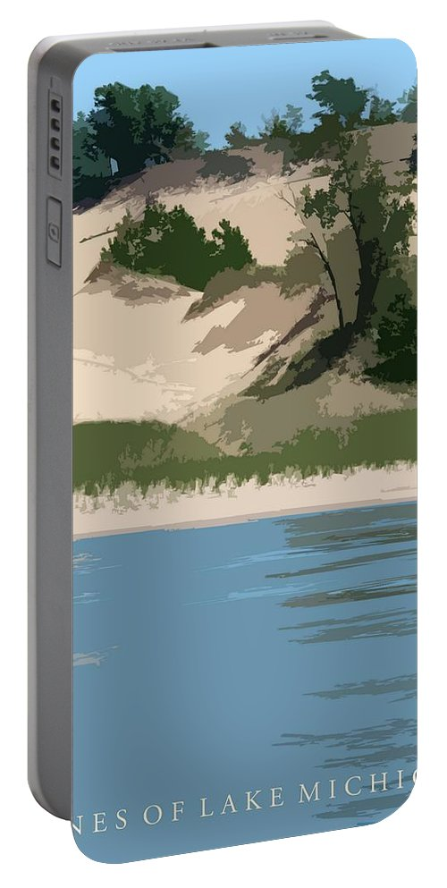 Dunes Portable Battery Charger featuring the photograph Dunes Of Lake Michigan by Michelle Calkins