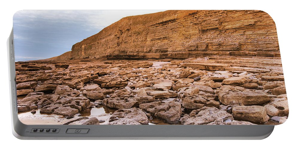 Dunraven Bay Portable Battery Charger featuring the photograph Dunraven Bay Southerndown by Paul Cannon
