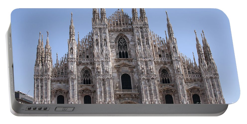 Milan Cathedral Italy Duomo Di Milano Cathedrals Church Churches Building Buildings Spire Spires Places Places Of Worship Structure Structures Landmark Landmarks Cityscape Cityscapes Portable Battery Charger featuring the photograph Duomo Di Milano by Bob Phillips