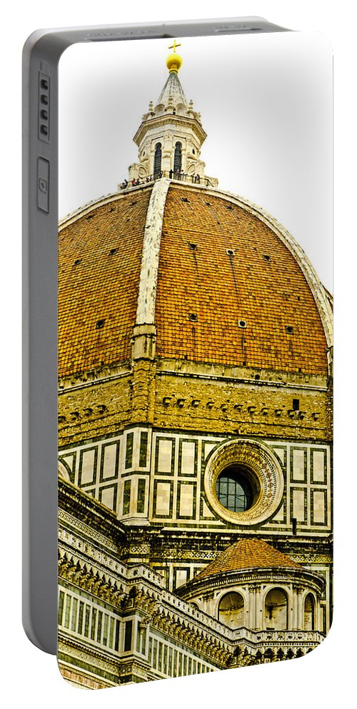 North Doors Portable Battery Charger featuring the photograph Duomo Florence Italy by Jon Berghoff