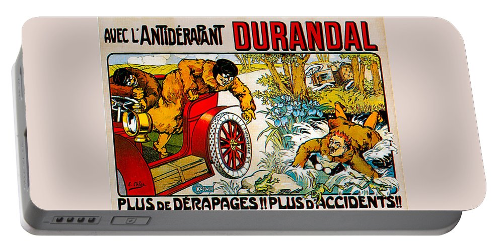 Vintage Automobile Ads And Posters Portable Battery Charger featuring the photograph Durandal by Vintage Automobile Ads and Posters