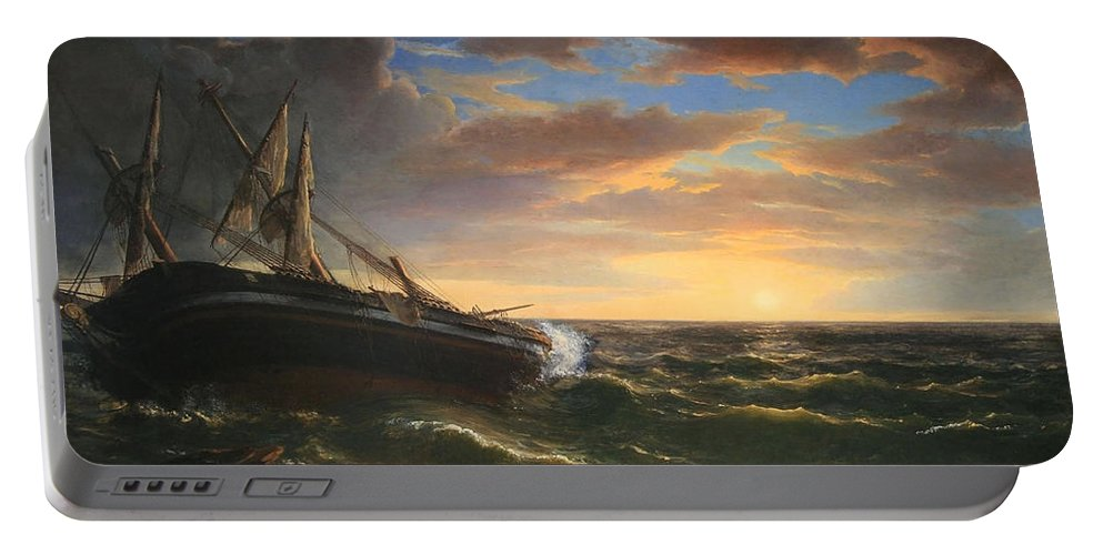 The Portable Battery Charger featuring the photograph Durand's The Stranded Ship by Cora Wandel
