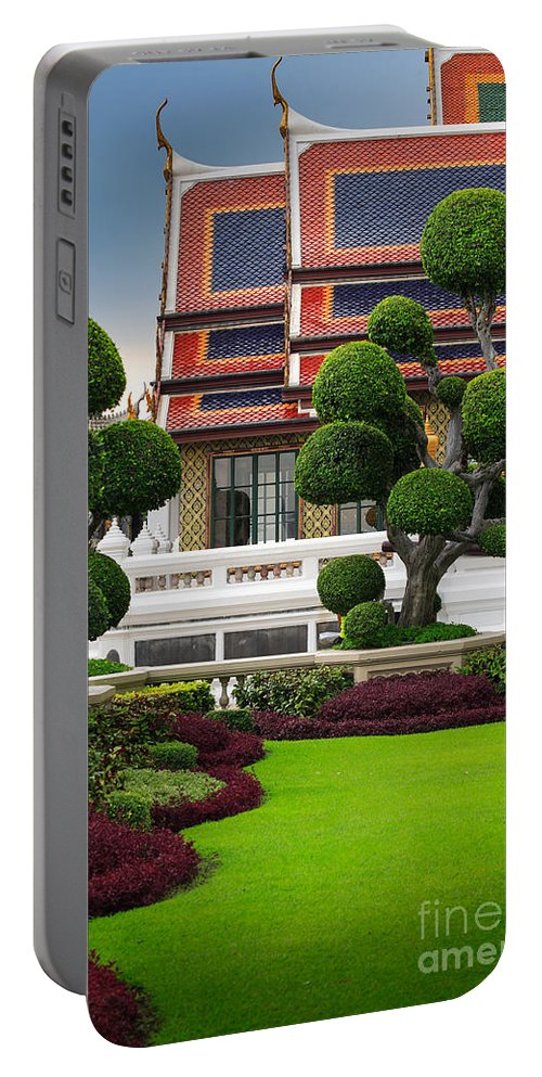 Asia Portable Battery Charger featuring the photograph Dusita Phirom Hall by Inge Johnsson