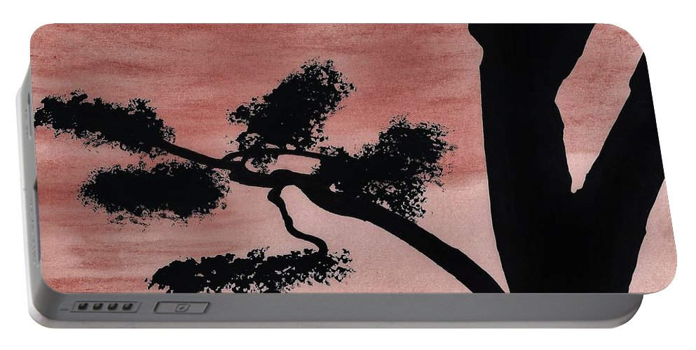 Tree Portable Battery Charger featuring the drawing Dusk by D Hackett