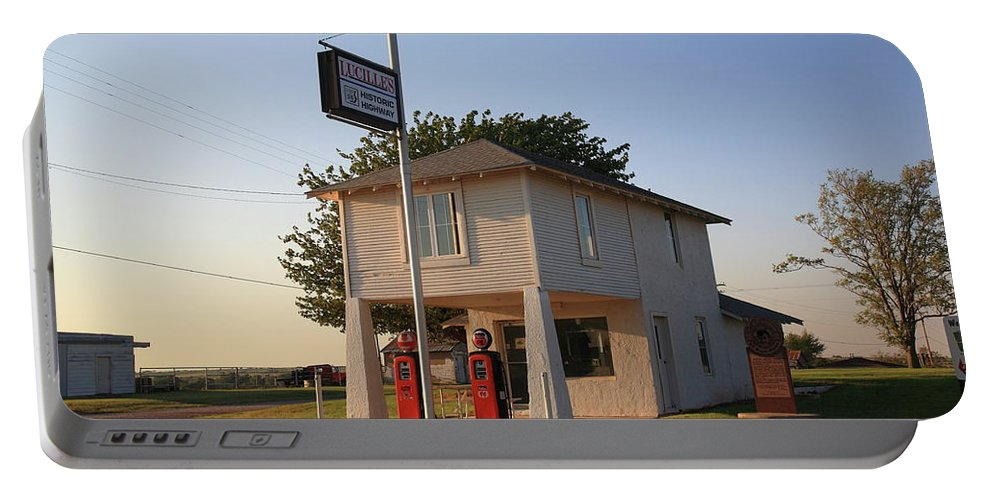 66 Portable Battery Charger featuring the photograph Dusk On Route 66 by Frank Romeo