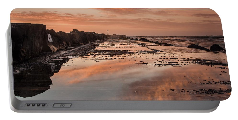 North Jetty Portable Battery Charger featuring the photograph Dusk On The North Jetty by Greg Nyquist