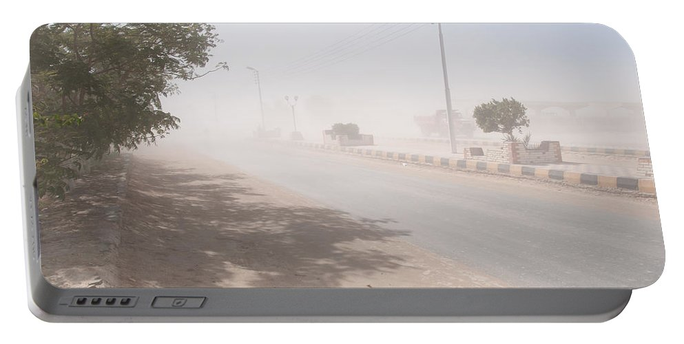Egypt Portable Battery Charger featuring the digital art Dust Storm by Carol Ailles