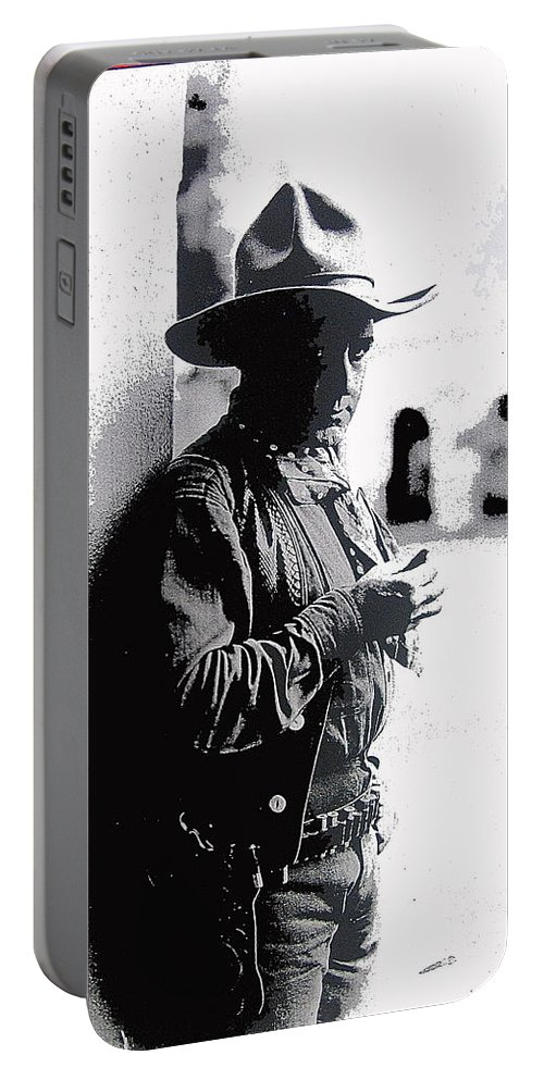 Dustin Farnum On Set Of Light Of The Western Stars Las Moros Ranch Southern Arizona 1918-2013 Portable Battery Charger featuring the photograph Dustin Farnum On Set Of Light Of The Western Stars Las Moros Ranch Southern Arizona 1918-2013 by David Lee Guss