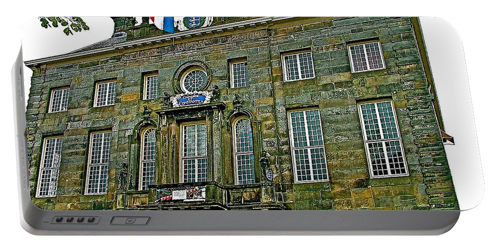 Dutch Architecture Of The Golden Age For Town Hall In Enkhuizen Portable Battery Charger featuring the photograph Dutch Architecture Of The Golden Age For Town Hall In Enkhuizen- by Ruth Hager