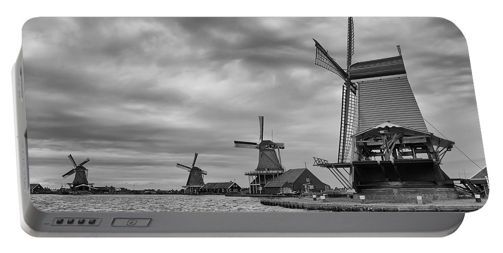 Dutch Portable Battery Charger featuring the photograph Dutch Windmills by Jaroslav Frank
