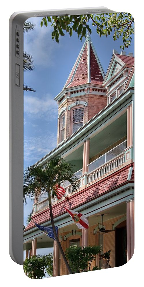 House Portable Battery Charger featuring the photograph Duval And South by Bob Slitzan