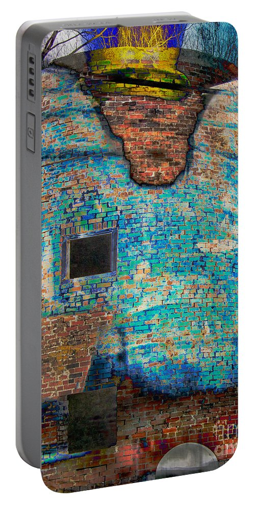 Composite Portable Battery Charger featuring the photograph Dyed And Bleached Left by Jay Ressler