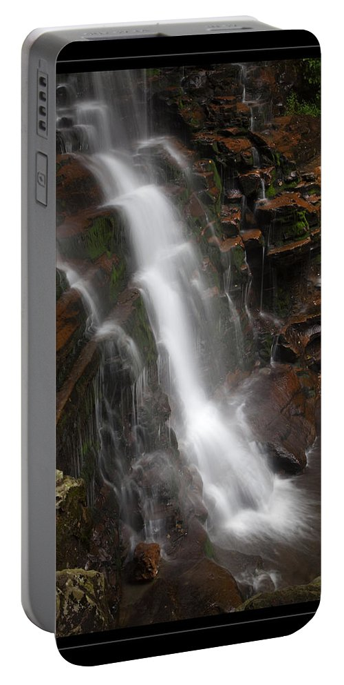 Waterfall Portable Battery Charger featuring the photograph Dynamic Descent by John Stephens