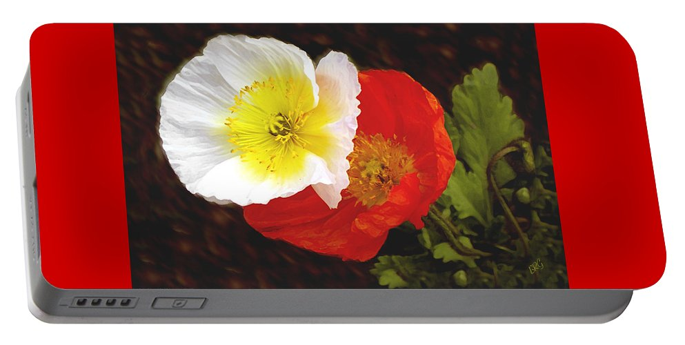 Icelandic Poppy Portable Battery Charger featuring the photograph Eager Poppies by Ben and Raisa Gertsberg