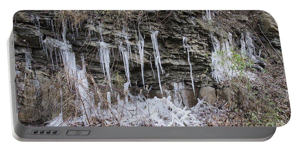 Eagle Rock Portable Battery Charger featuring the photograph Eagle Rock Icicles 2 by Teresa Mucha