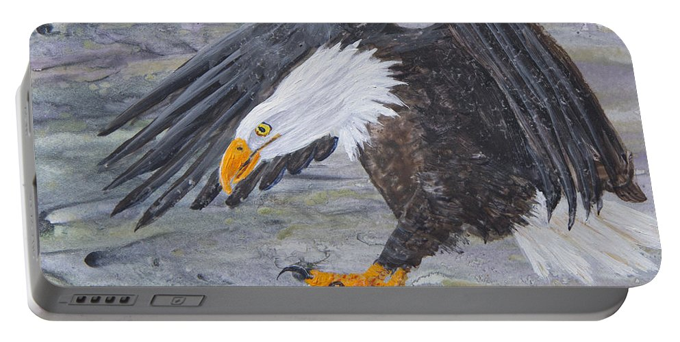 Eagle Portable Battery Charger featuring the painting Eagle Study 2 by Dee Carpenter