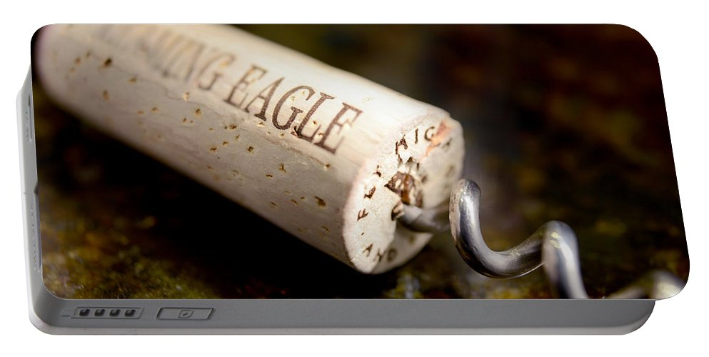 Eagle Uncorked Portable Battery Charger featuring the photograph Eagle Uncorked by Jon Neidert