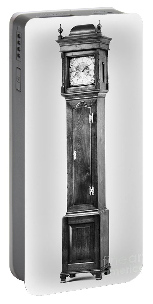 1750s Portable Battery Charger featuring the photograph Early American Clock by Granger
