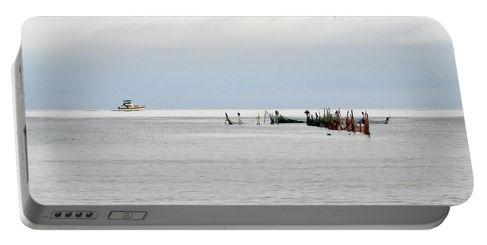 Fishing Vessel Portable Battery Charger featuring the photograph Early Birds by Keith Armstrong