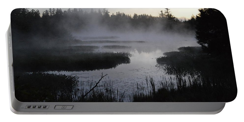 Fog Portable Battery Charger featuring the photograph Early Day by Thomas Phillips
