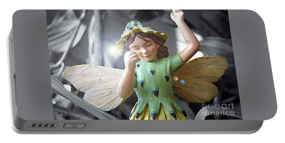 Fairy Portable Battery Charger featuring the photograph Early Evening Fairy by Nina Silver