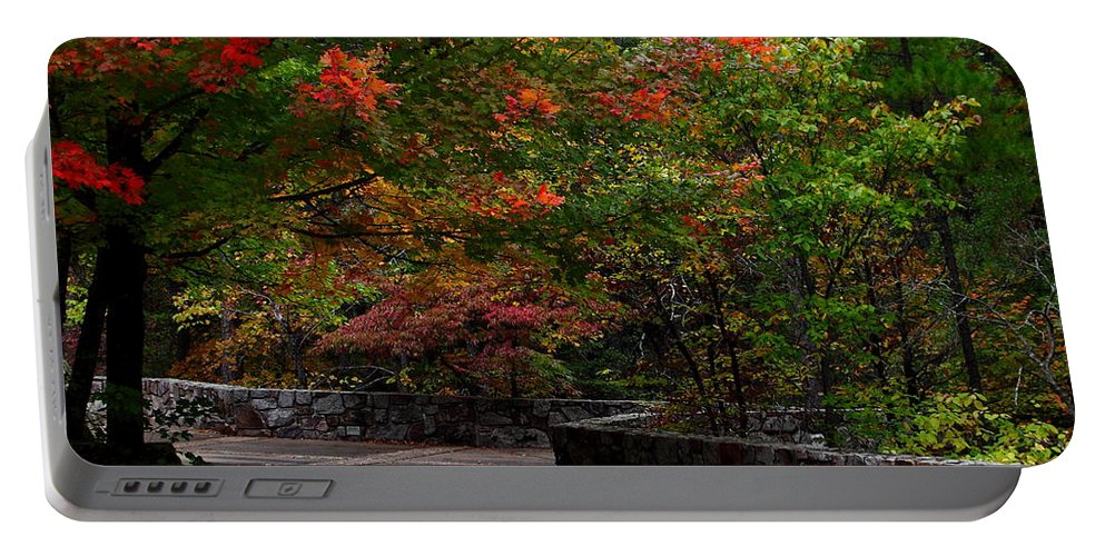 Oklahoma Portable Battery Charger featuring the photograph Early Fall At Talimena Park by Robert Frederick