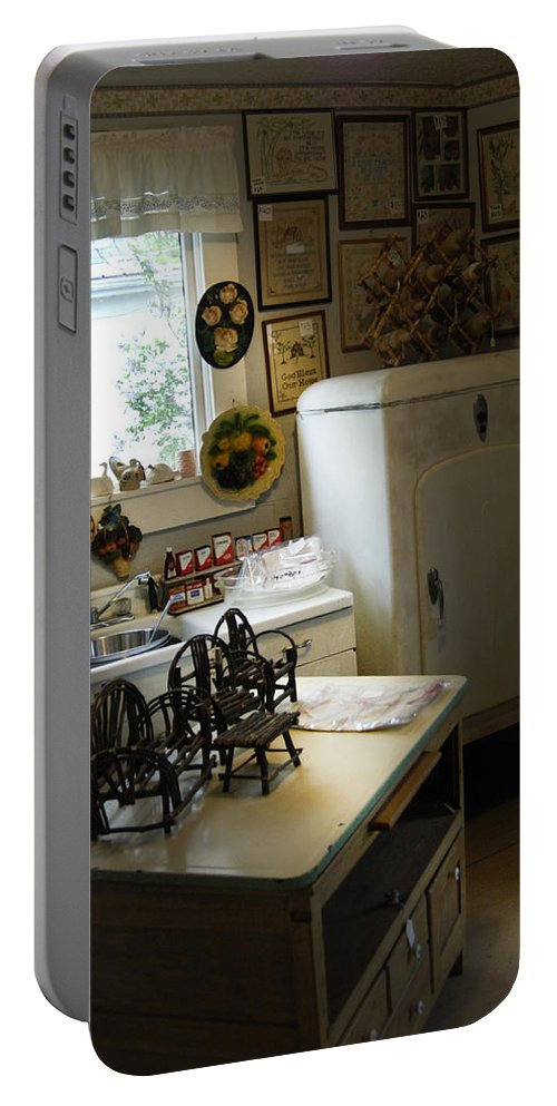 Early Fifty's Kitchen Portable Battery Charger featuring the photograph Early Fifty's Kitchen by Randall Branham