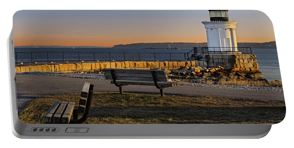 Bug Light Portable Battery Charger featuring the photograph Early Morning At Bug Lighthouse by Susan Candelario