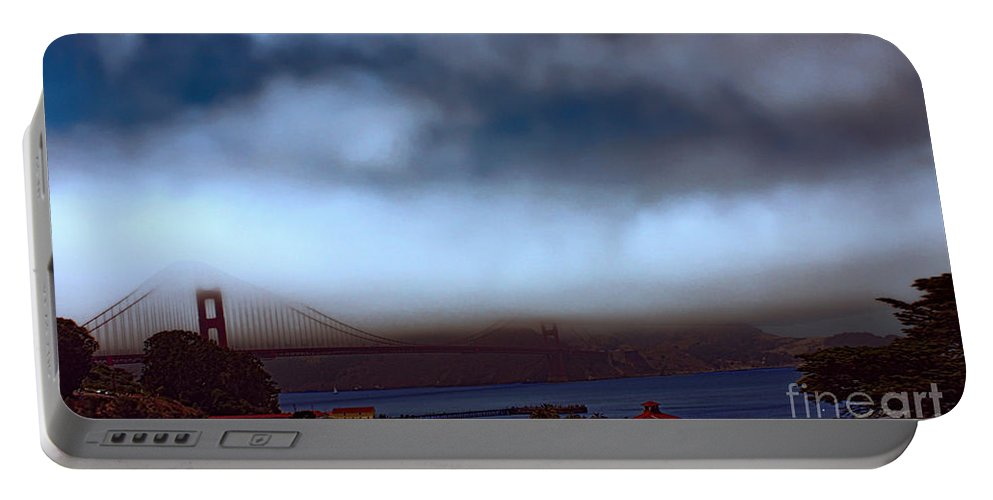 Golden Gate Bridge Portable Battery Charger featuring the photograph Early Morning At The Golden Gate by Tommy Anderson