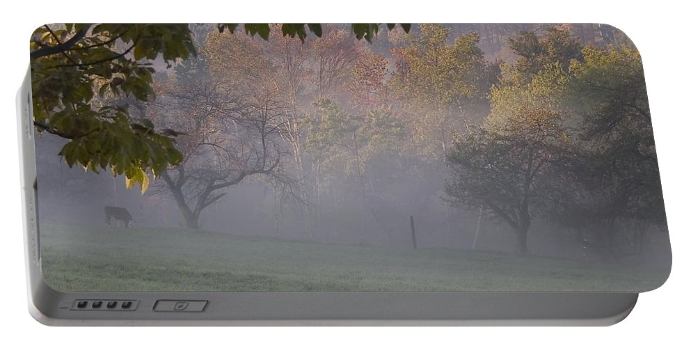 Landscape Portable Battery Charger featuring the photograph Early Morning Country by Karol Livote